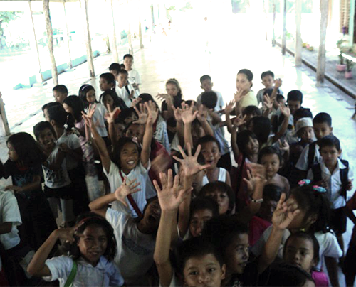 BES Pupils on Gift Day, 2010