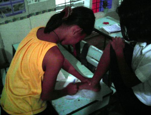 Tracing Foot, Binanuahan Elementary School, Bicol, Philippines
