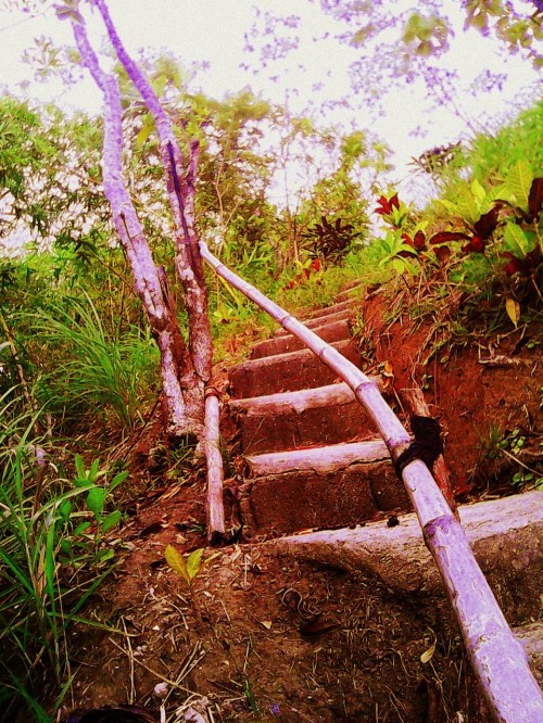 Stairs to San Rafael High School, Bicol, Philippines