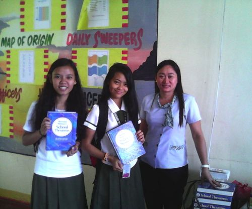 giftED SOLs giving books to Pilar High School, Bicol, Philippines